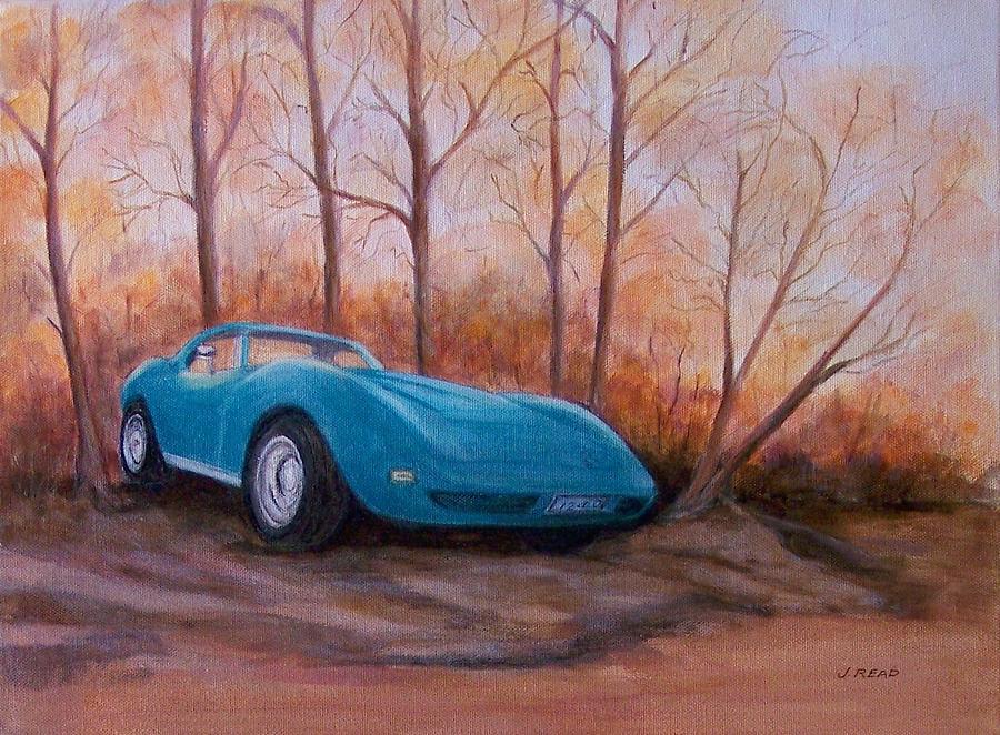 Corvette Painting - Corvette 1974 by Jane Landry  Read