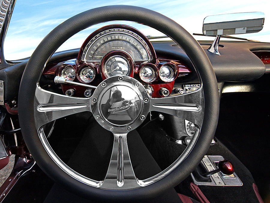 Corvette Photograph - Corvette C1 - In The Drivers Seat by Gill Billington