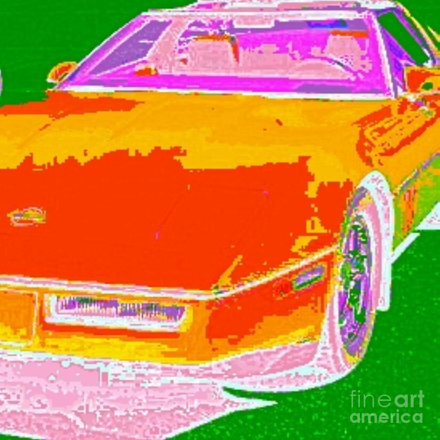 Painting Photograph - Corvette Dreams by James Eye