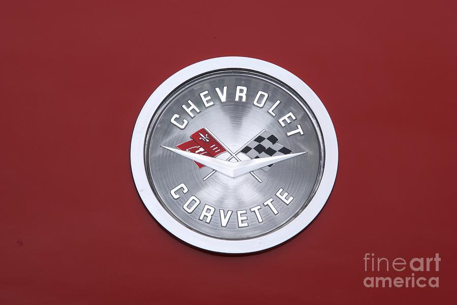 Corvette Photograph - Corvette Emblem by Neil Zimmerman