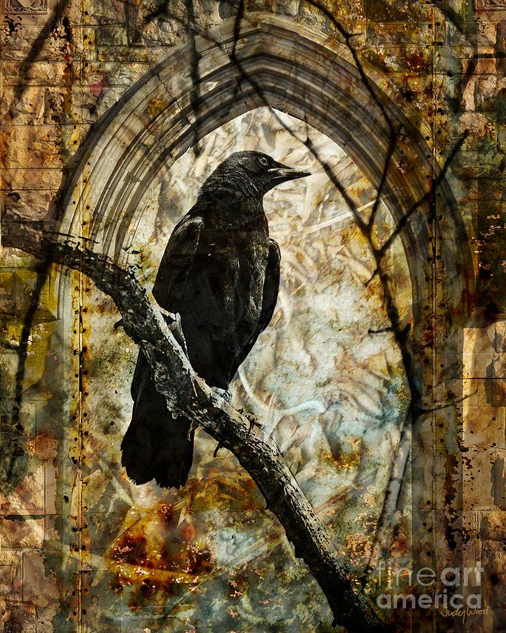 Crow Digital Art - Corvid Arch by Judy Wood