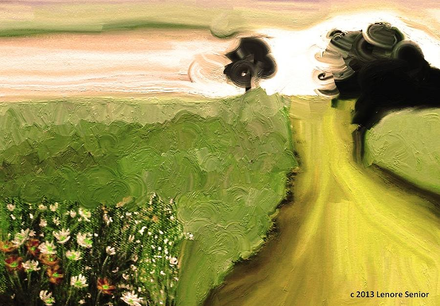 Expressive Mixed Media - Cosmic Autumn by Lenore Senior