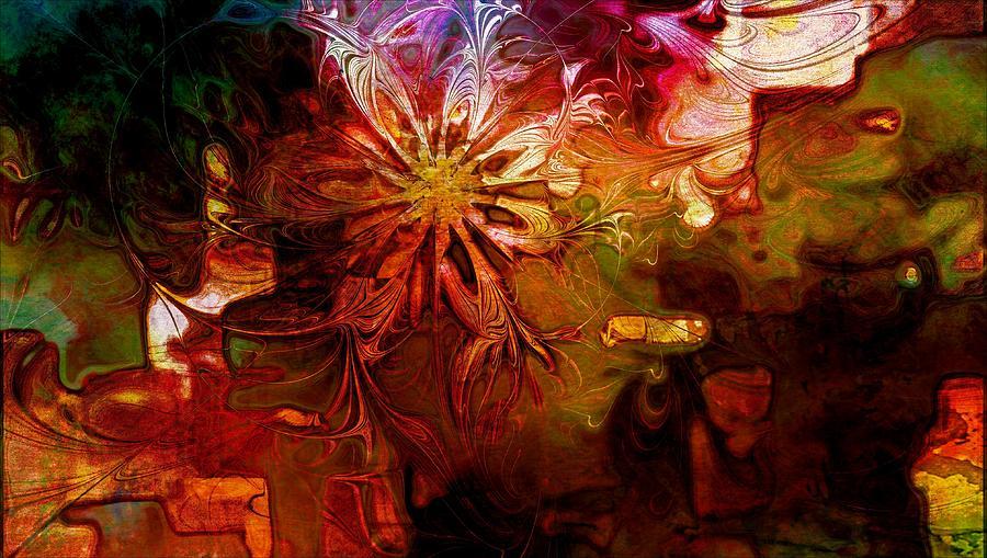 Fractal Digital Art - Cosmic Bloom by Amanda Moore