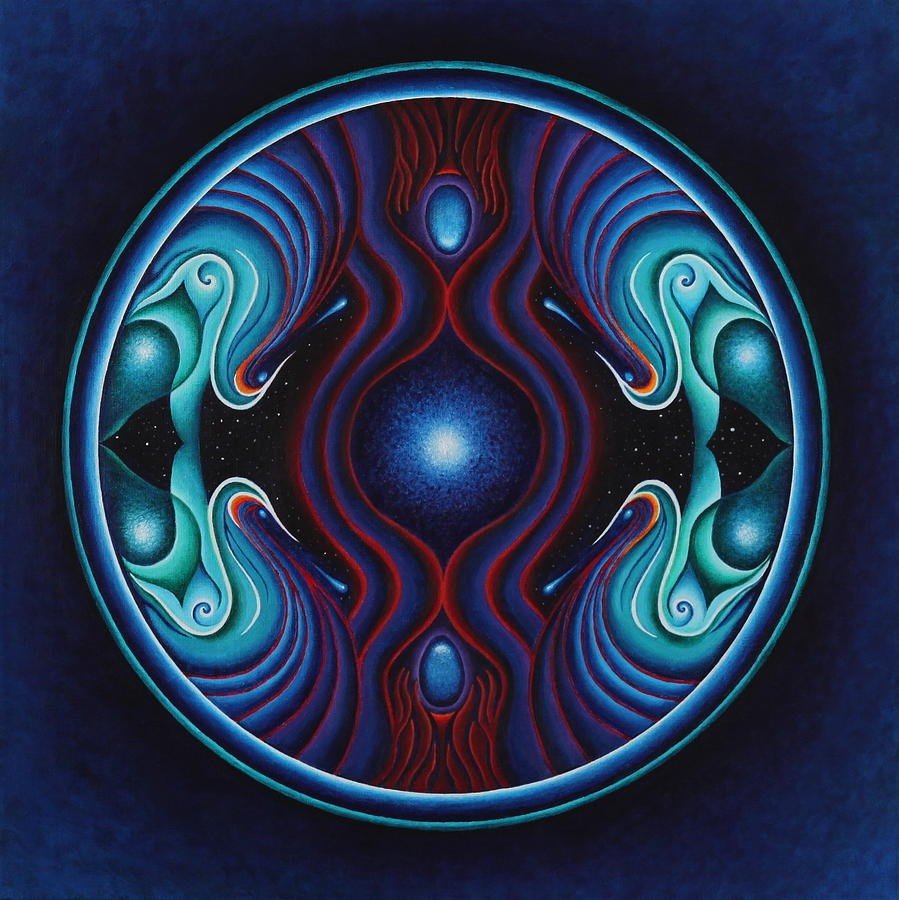 Mandala Painting - Cosmic Conception by Erik Grind