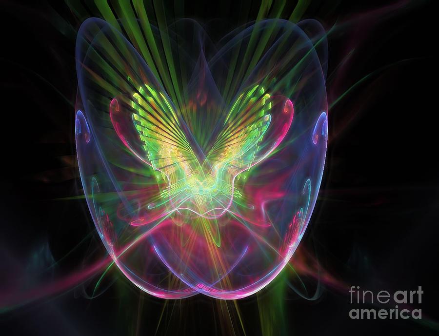 Nicholls Digital Art - Cosmic Flight by Peter R Nicholls