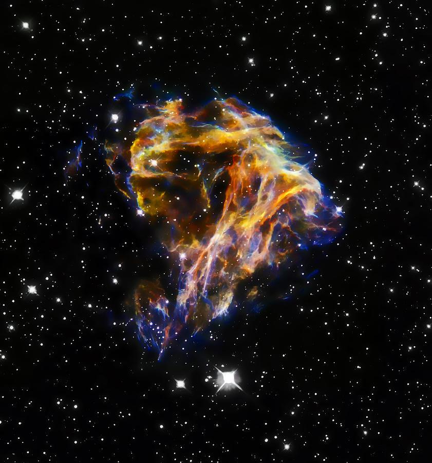Nebula Photograph - Cosmic Heart by Jennifer Rondinelli Reilly - Fine Art Photography