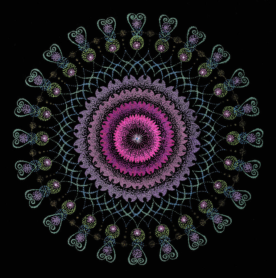 Healing Mandala Painting - Cosmic Hug by Keiko Katsuta