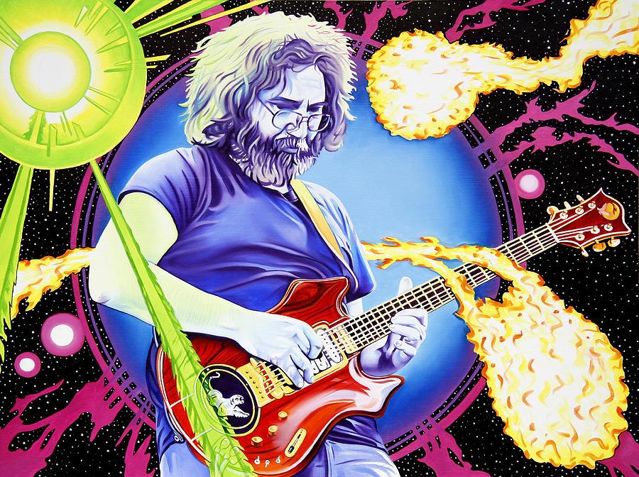 Jerry Garcia Painting - Cosmic Jerry by Joshua Morton