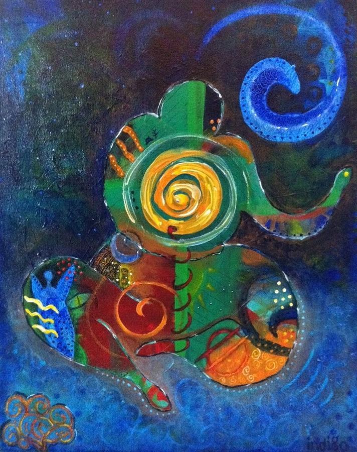 Acrylic Painting - Cosmic Presence by Indigo Carlton