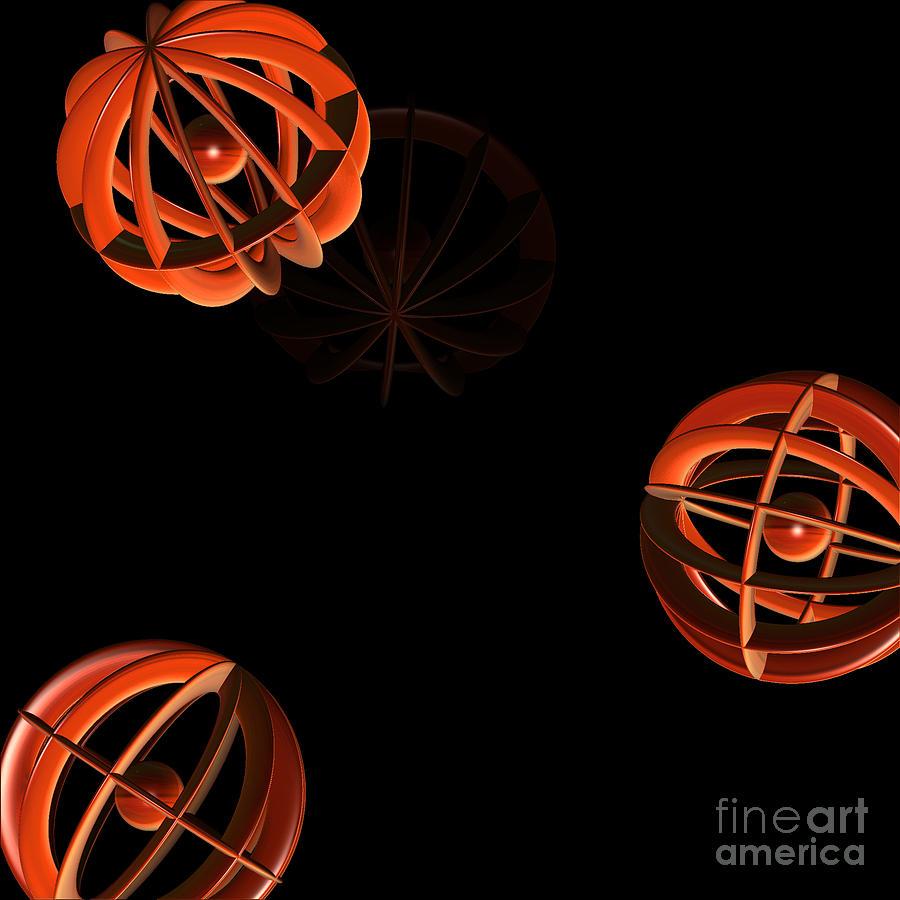 Jammer Digital Art - Cosmic Pumpkins By Jammer by First Star Art
