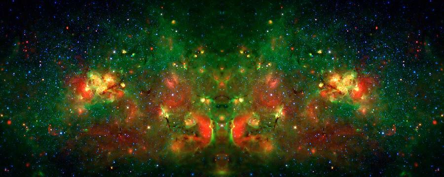 Universe Photograph - Cosmic Reflection 1 by Jennifer Rondinelli Reilly - Fine Art Photography