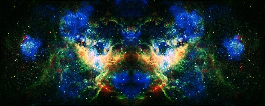 Tarantula Nebula Photograph - Cosmic Reflection 2 by Jennifer Rondinelli Reilly - Fine Art Photography