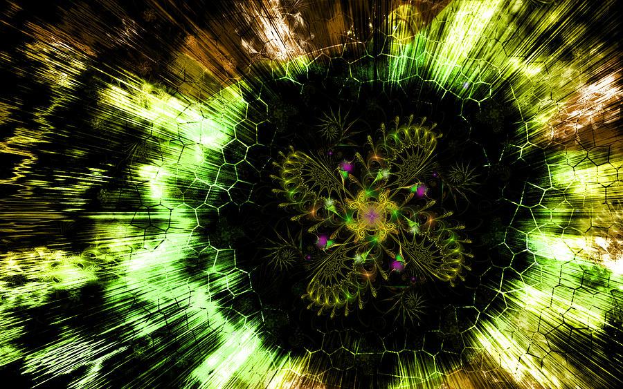 Corporate Digital Art - Cosmic Solar Flower Fern Flare by Shawn Dall