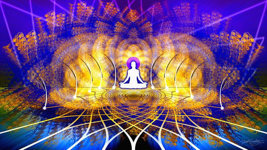 Sacred Digital Art - Cosmic Spiral Ascension 18 by Derek Gedney