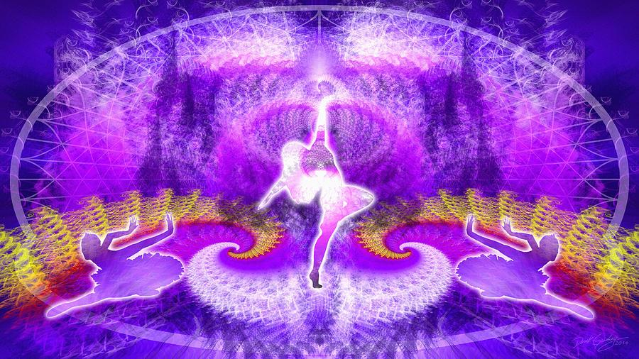 Sacred Digital Art - Cosmic Spiral Ascension 27 by Derek Gedney