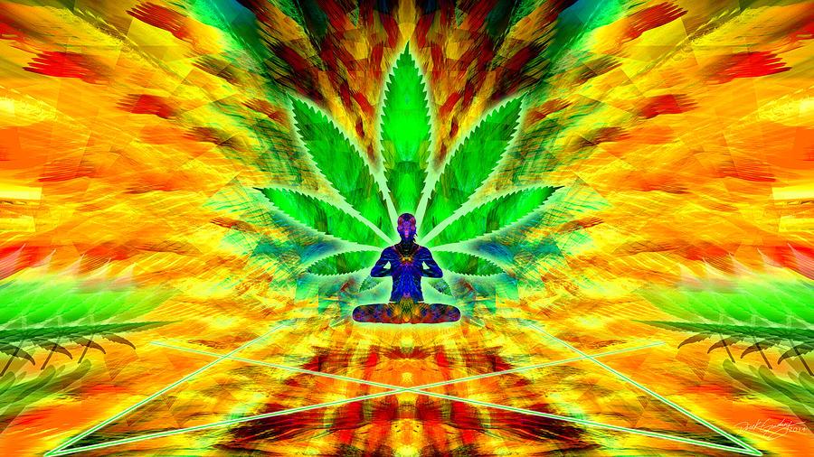 Sacred Digital Art - Cosmic Spiral Ascension 34 by Derek Gedney