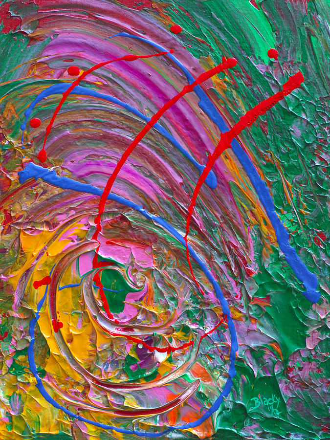 Colorful Abstract Painting - Cosmic Thoughts by Donna Blackhall