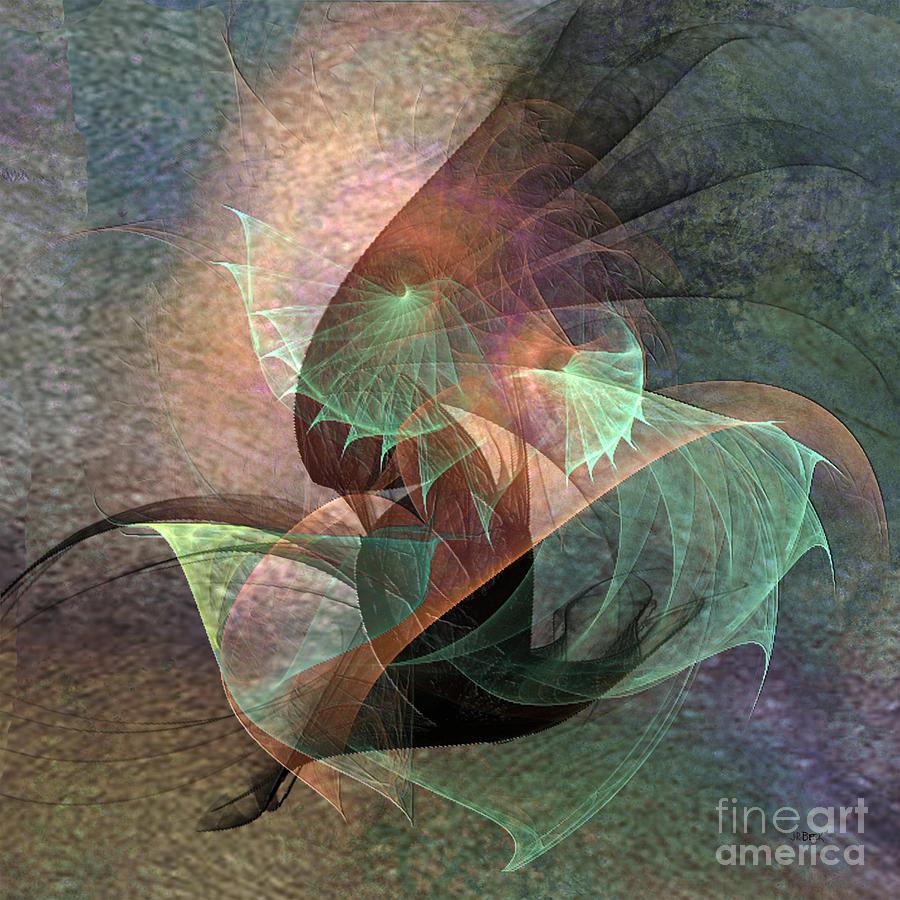 Abstracts Digital Art - Cosmic Tundra - Square Version by John Robert Beck