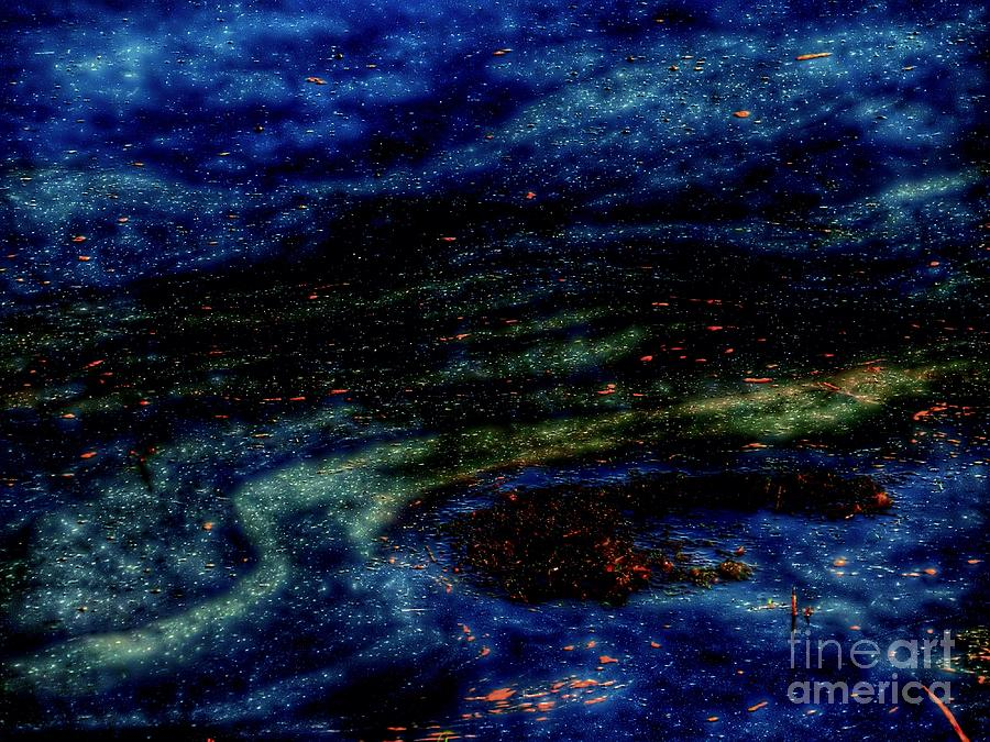 Cosmic Waters Abstract Photograph