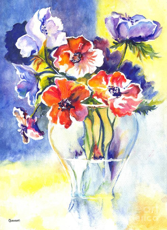 Flowers Painting - Cosmos I by Carol Wisniewski