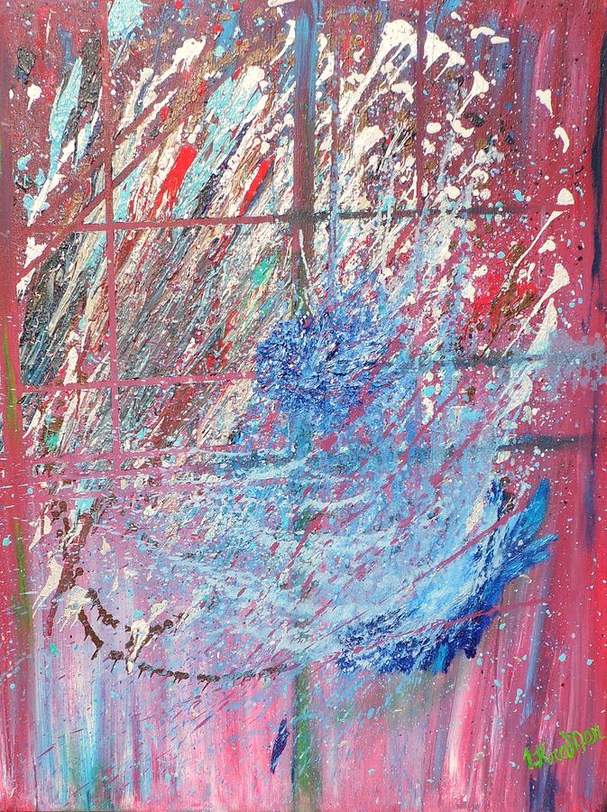 Abstract Painting - Cosmos by Lisa Kramer