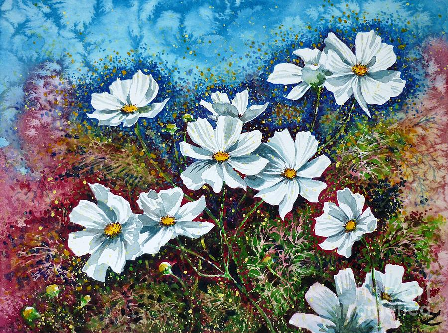 Cosmos Painting - Cosmos  by Zaira Dzhaubaeva