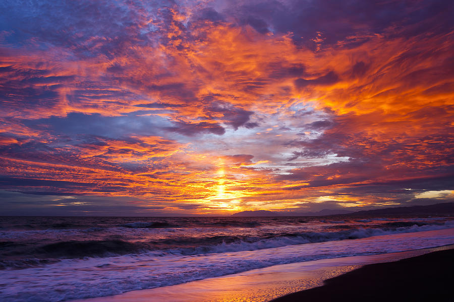 Costa del Sol sunset Photograph by Jorg Greuel