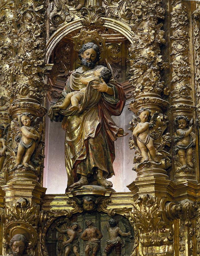 Two Photograph - Costa, Pablo 1672-1728. Main Altarpiece by Everett