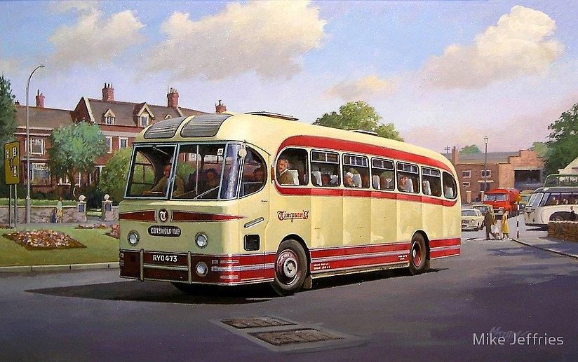 United Kingdomcoach Bus Painting - Cotswold Tour 1957 by Mike  Jeffries