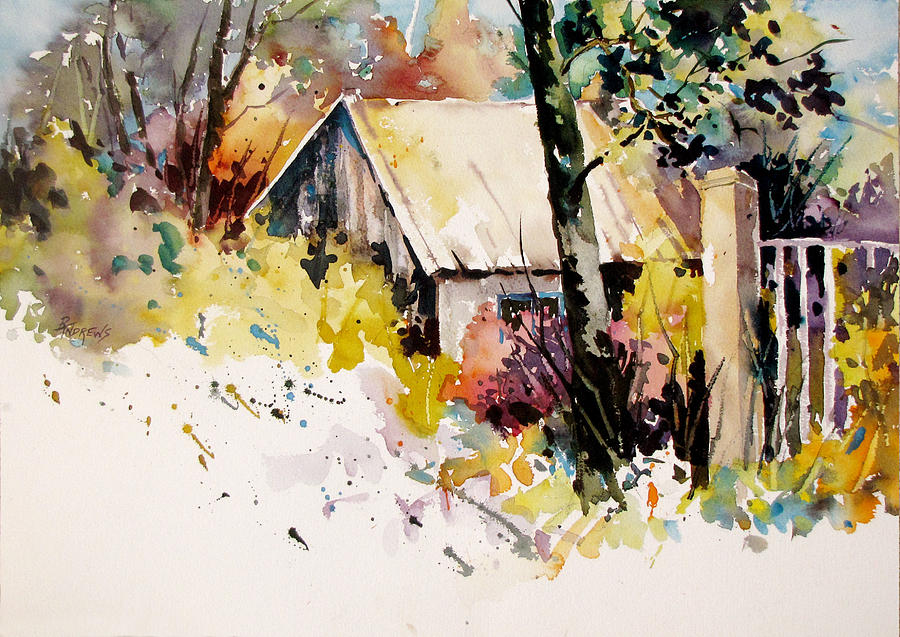 Cottage Painting - Cottage 3 by Rae Andrews