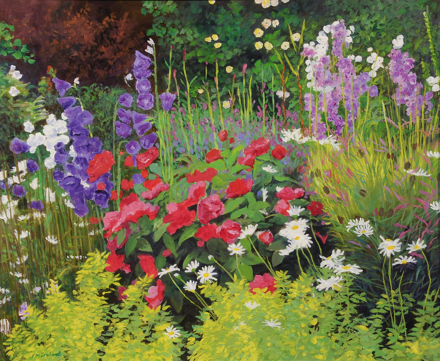 Flowers Painting - Cottage Garden by William Ireland
