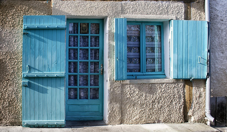 Turquoise Photograph - Cottage In France by Georgia Fowler