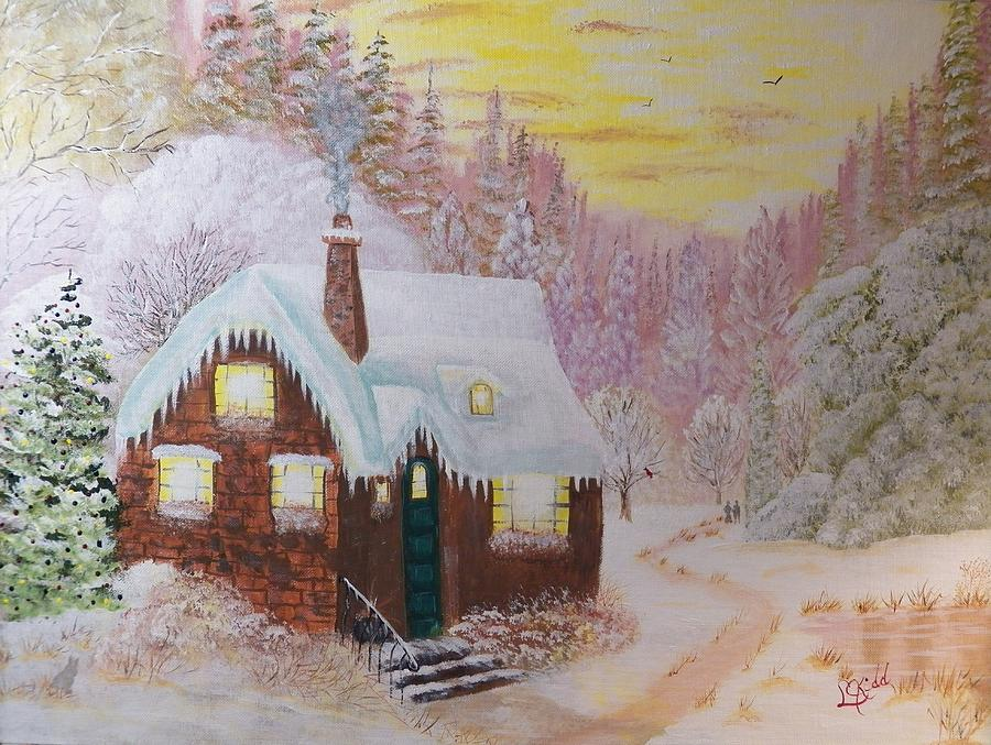 Cottage In The Woods Painting By Laurie Kidd