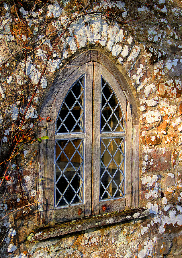 Window Photograph - Cottage window by Peggy Berger