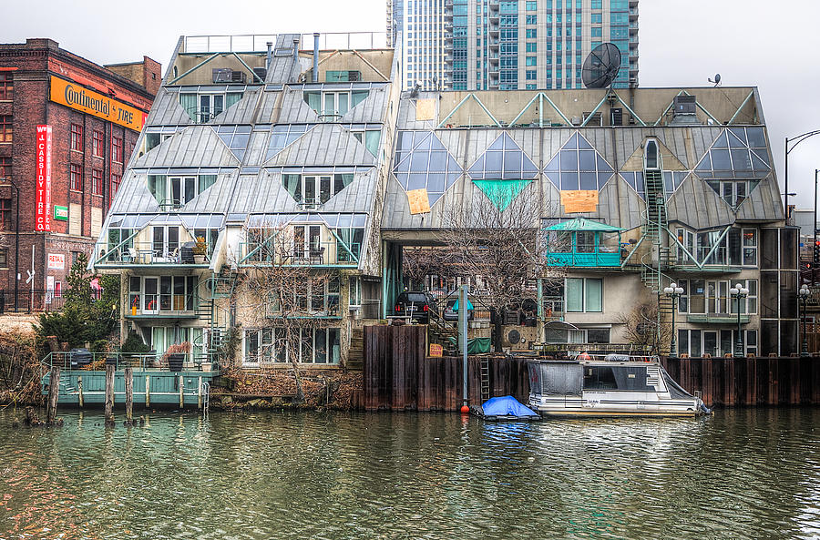 Chicago River Photograph - Cottages On The River by Michael  Bennett