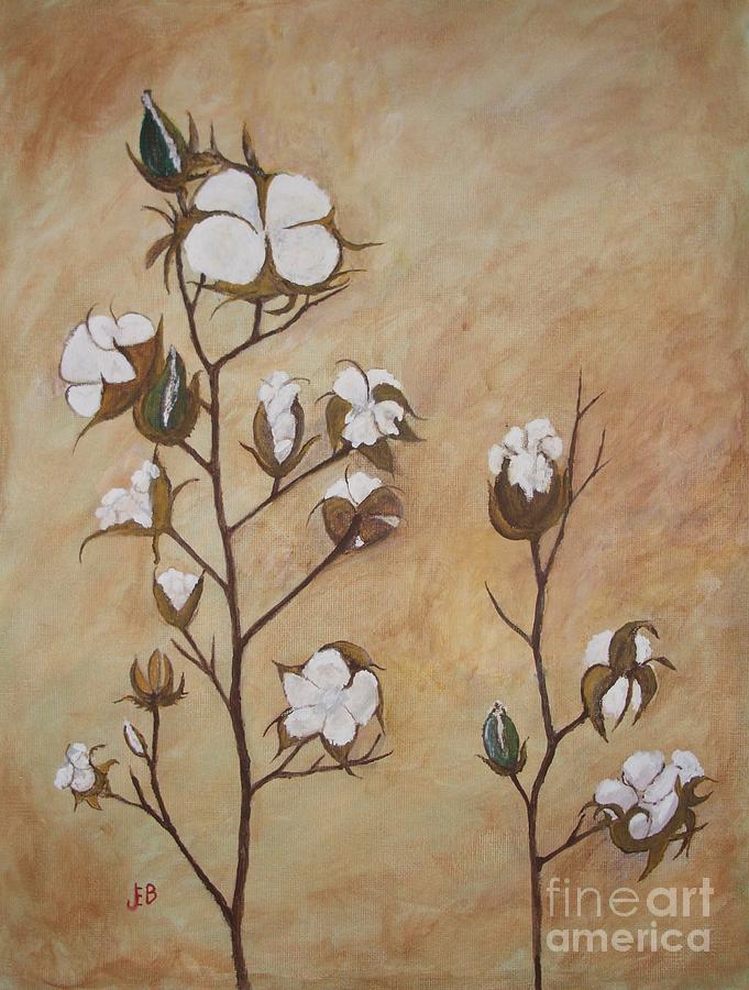 Cotton Bolls Painting - Cotton Bolls by John Burch