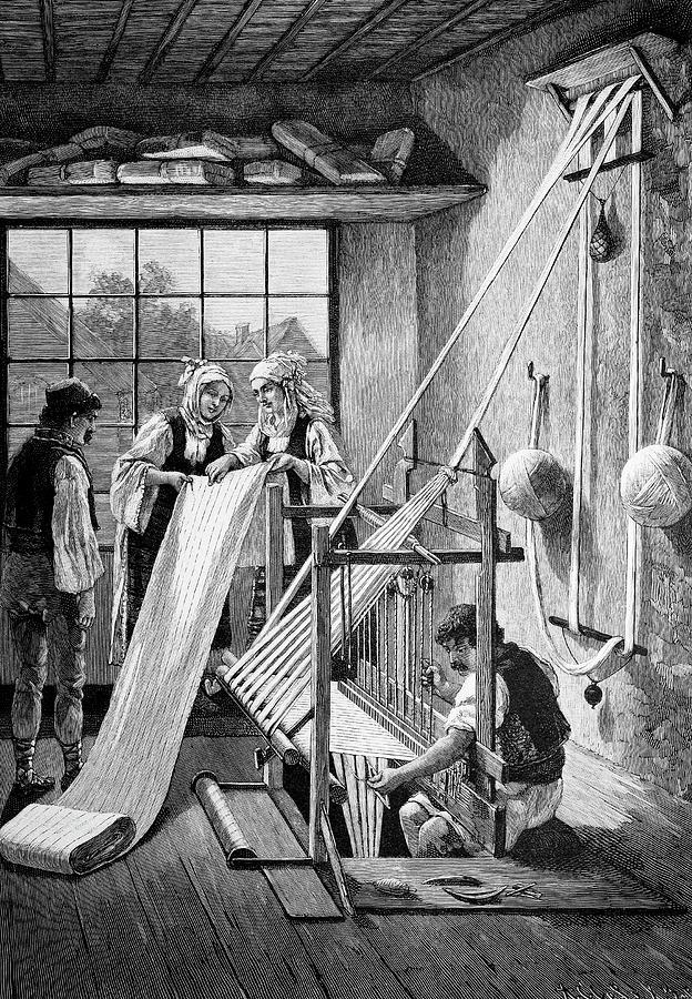 Machine Photograph - Cotton Loom by Bildagentur-online/tschanz
