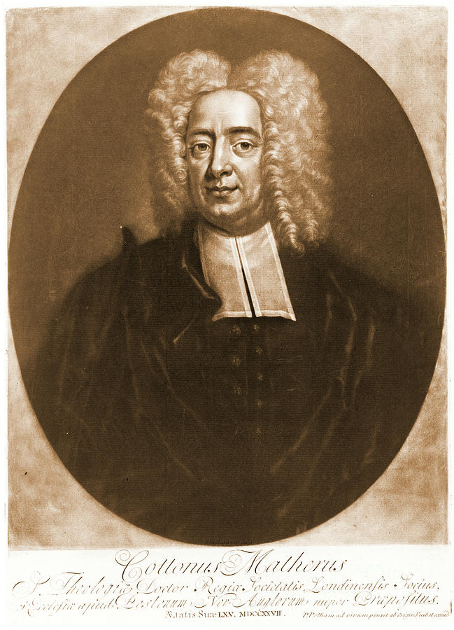 Portraits Photograph - Cotton Mather 1728 by Padre Art