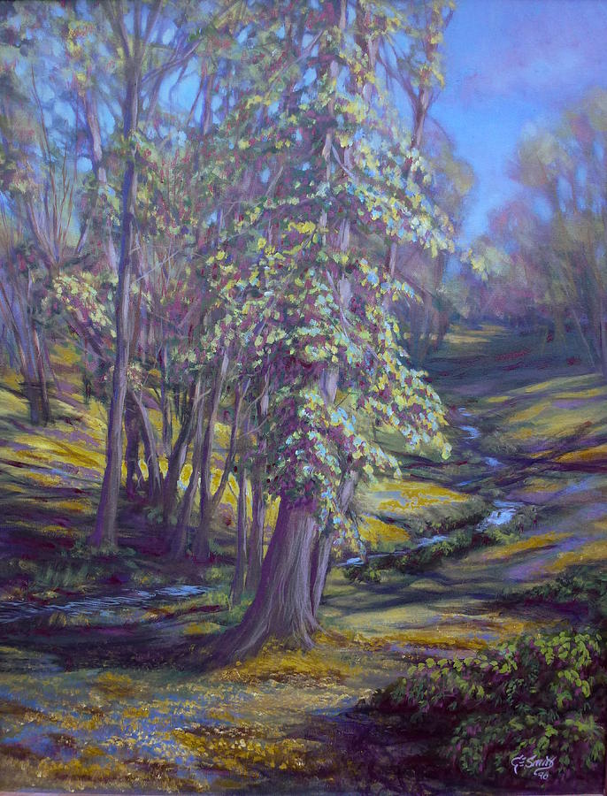Trees Painting - Cottonwoods by Charles Smith