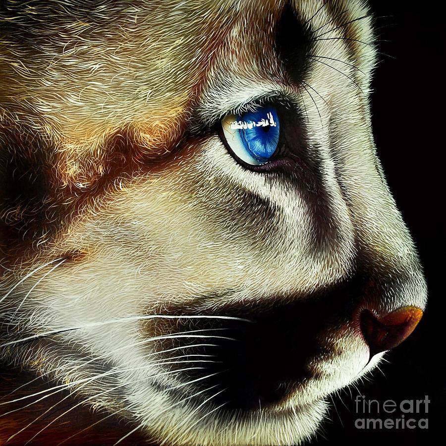Cougar Cub Painting - Cougar Cub by Jurek Zamoyski