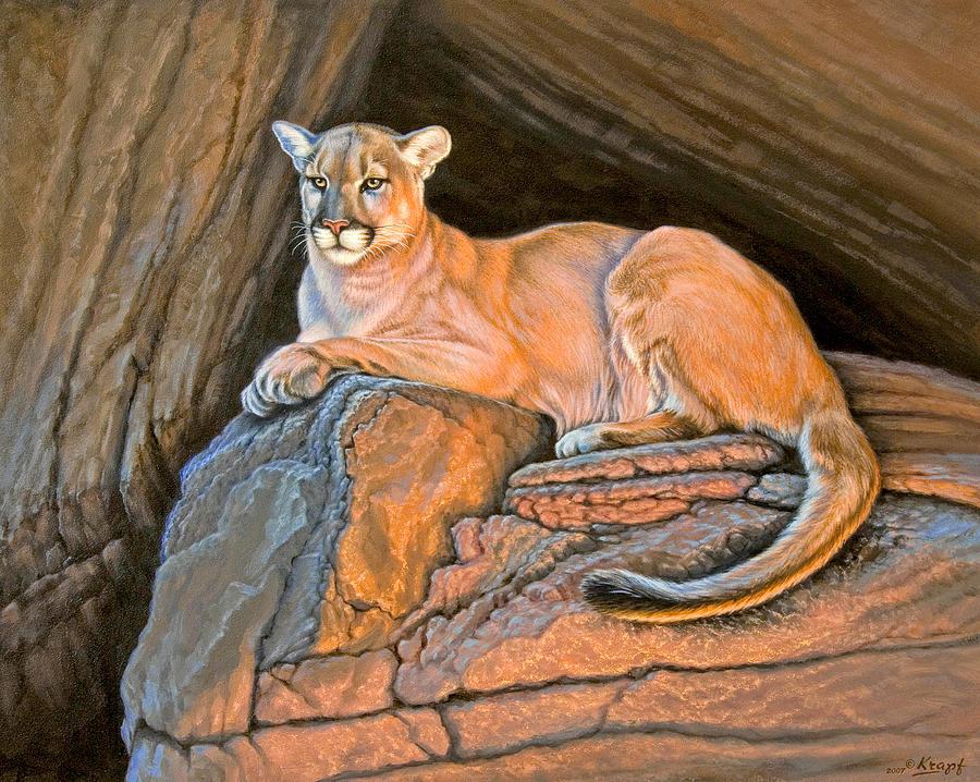 Wildlife Painting - Cougar by Paul Krapf