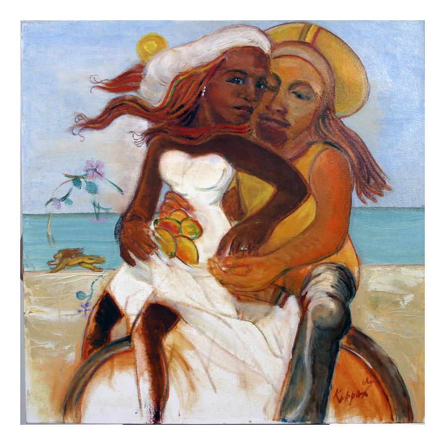 Lovers Painting - Could You Be Loved? by Kippax Williams