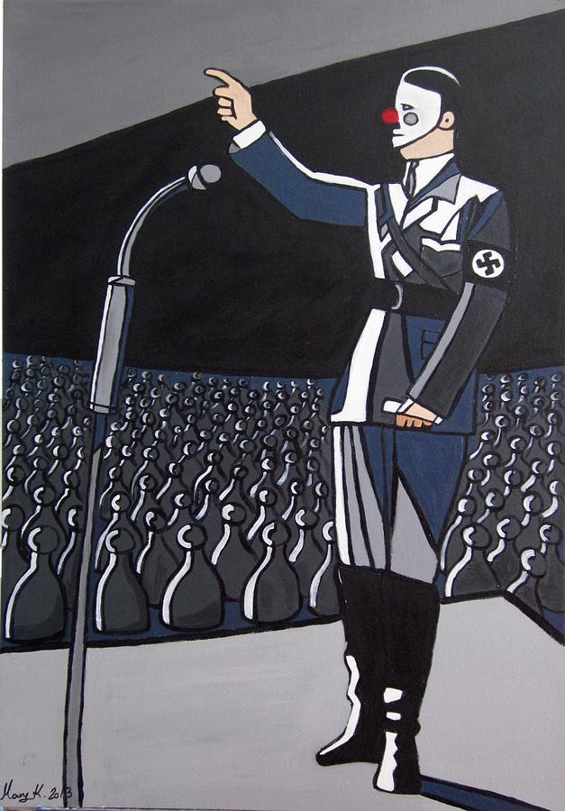 Hitler Painting - Coulrophobia by Mary Kushilevich