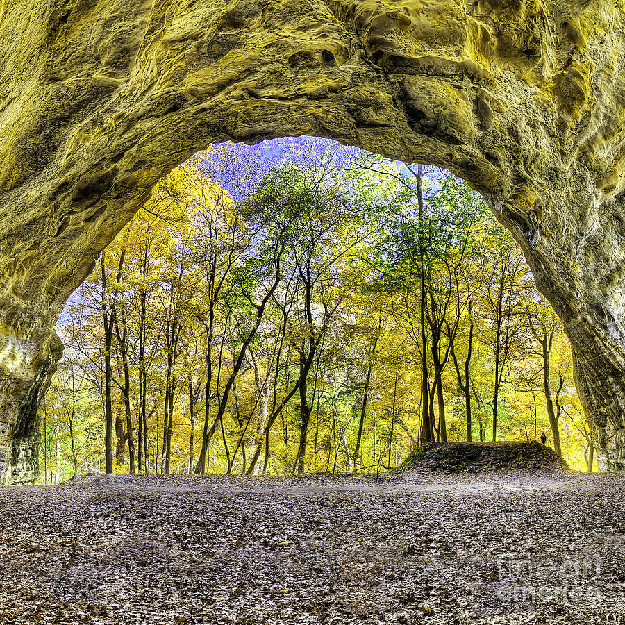 Starved Photograph - Council Overhang At Starved Rock by Twenty Two North Photography