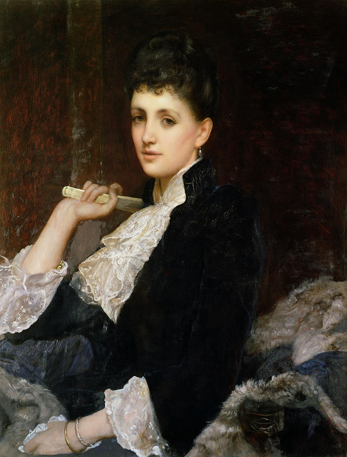 Fan Painting - Countess Of Airlie by Sir William Blake Richmond