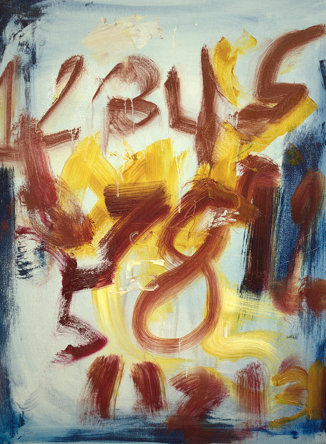 Abstract Painting - Counting With Sam by Samuel Marlow