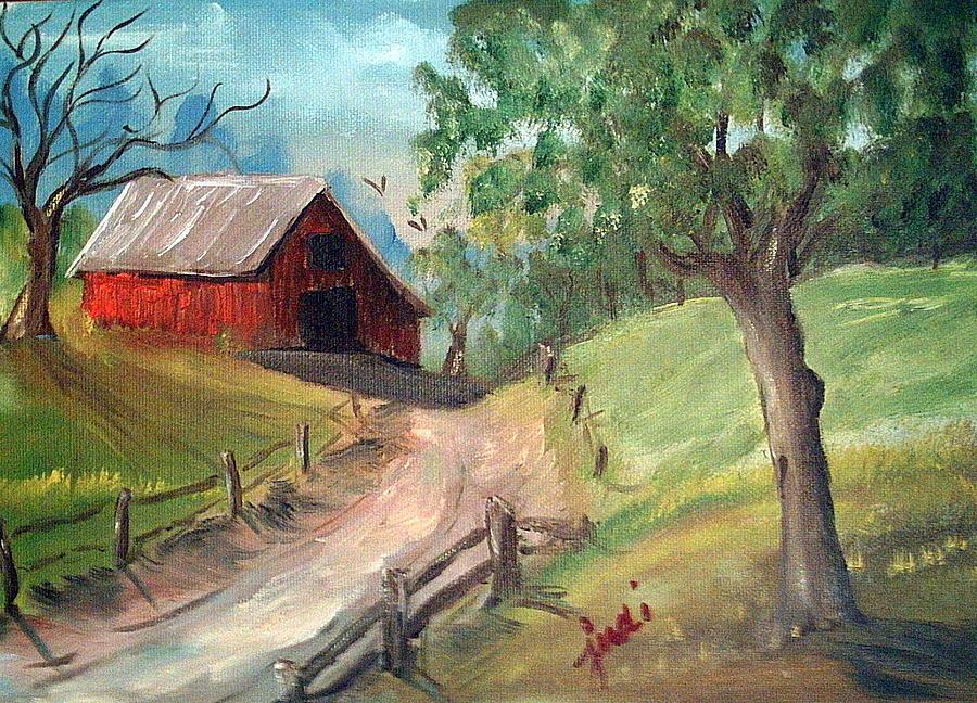 Barn Mixed Media - Country Barn by Judi Pence
