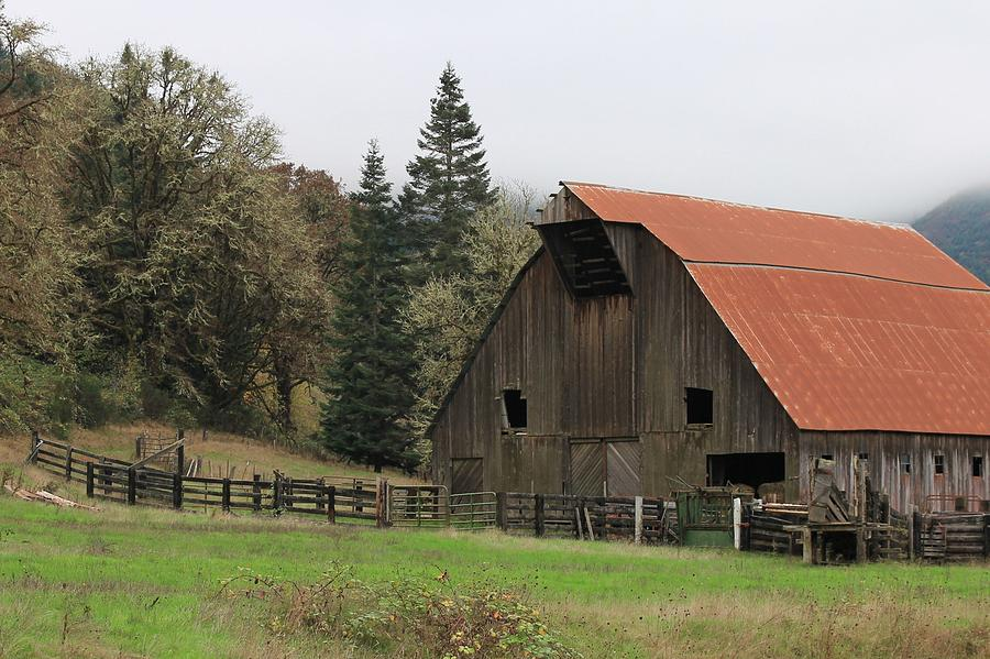 Oregon Photograph - Country Barn by Katie Wing Vigil