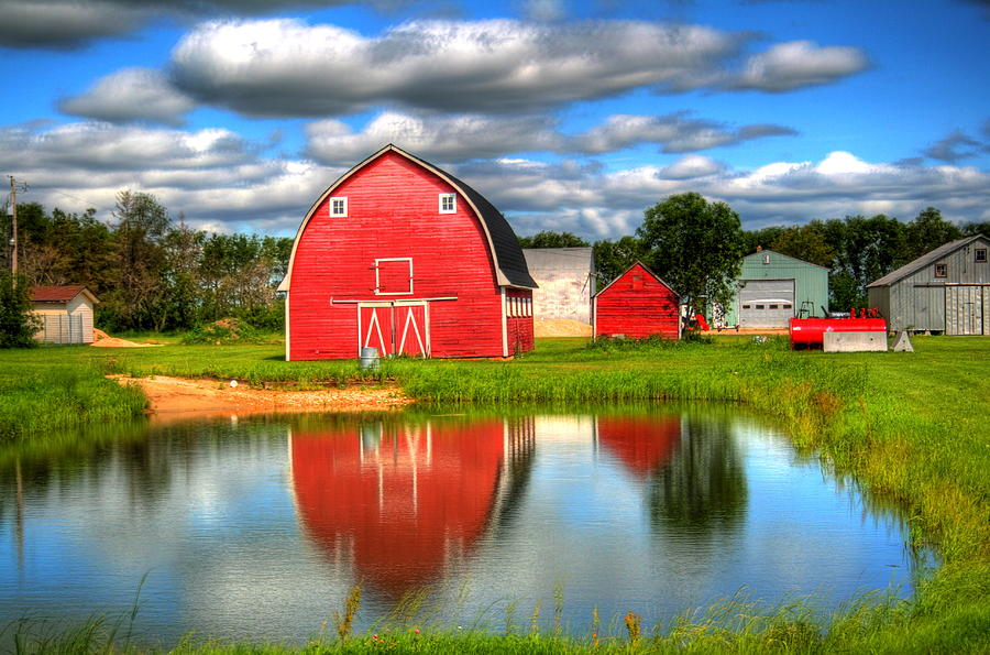 Barn Photograph - Country Barnyard by Larry Trupp