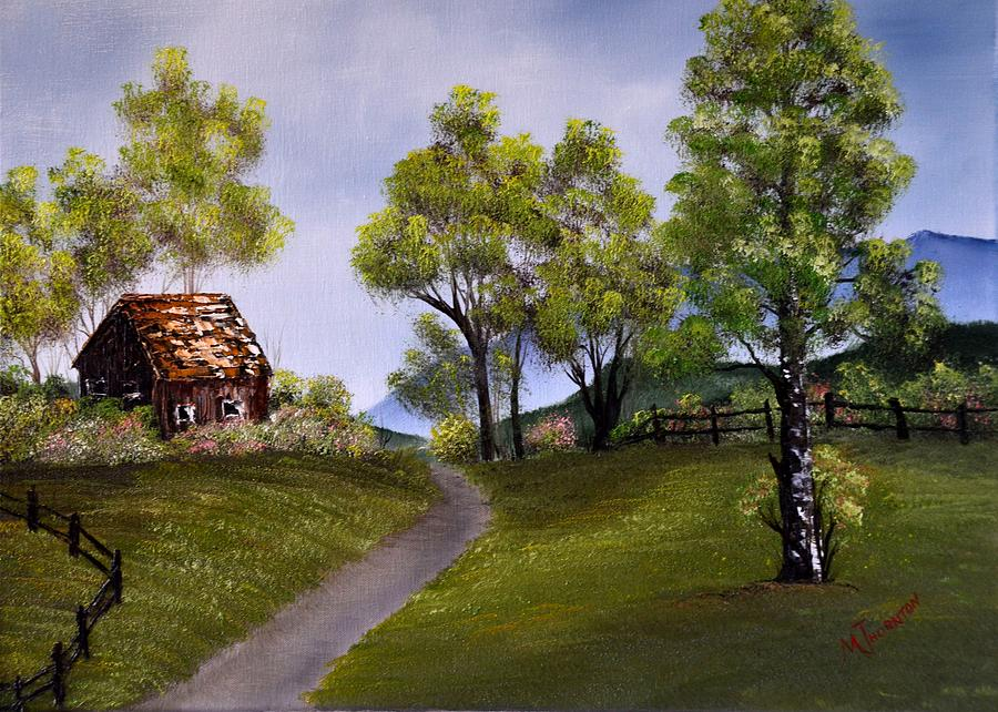 Country Cabin Painting by Marsha Thornton
